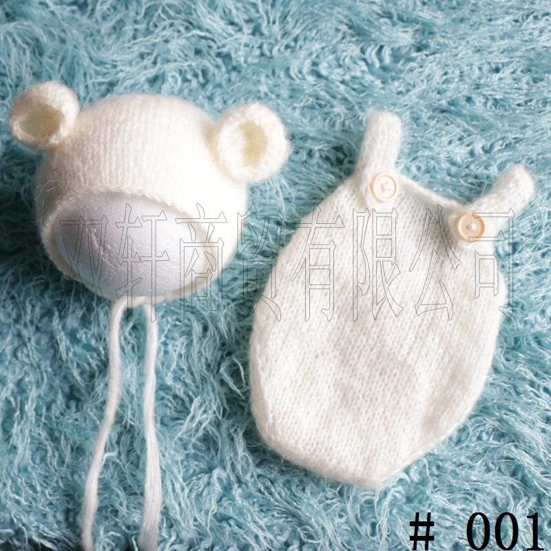 Artesanía, mano de punto, suéter de bebé, gorro de lana mohair y Pantalones Bebé ducha regalo atrezos para fotografía de bebés
