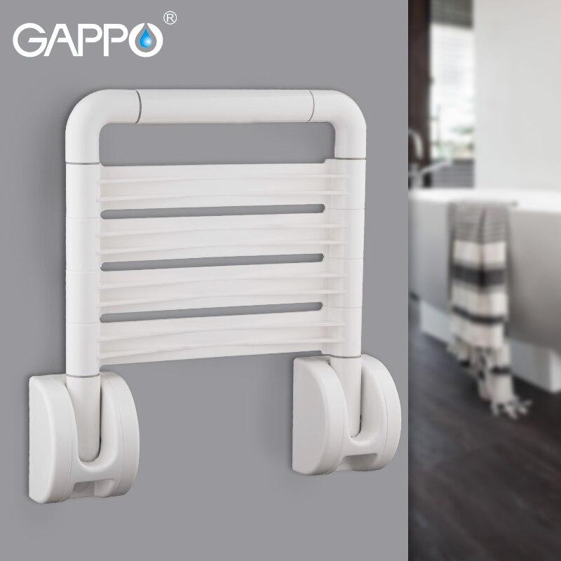 GAPPO-كرسي استحمام مثبت على الحائط ، مقعد دش قابل للطي ، كرسي حمام