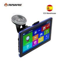 TOPSOURCE-écran avec carte de 8 go intégrée pour véhicule C6, navigateur avec carte de 8 go, GPS, 7 pouces