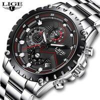 Watch men Brand Luxury Fashion Quartz Sport Watches Men Full Steel Military Clock Waterproof Gold men's Watch Relogio Masculino