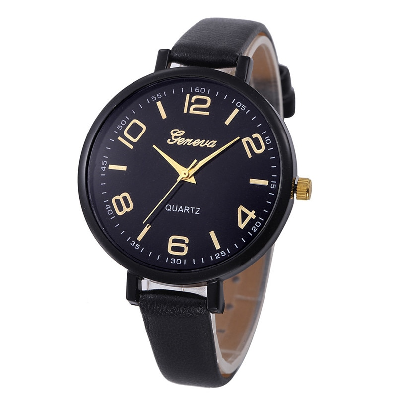 2017 Women Watches  Watch Small Faux Leather Quartz Analog Wrist Watch Ladies Bracelet Watch Hot Sale relogio feminino A4
