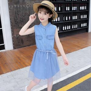 New Fashion Girls Dress Teenager Jean's Dress Summer Fashion & Casual for Girls Dress Clothing