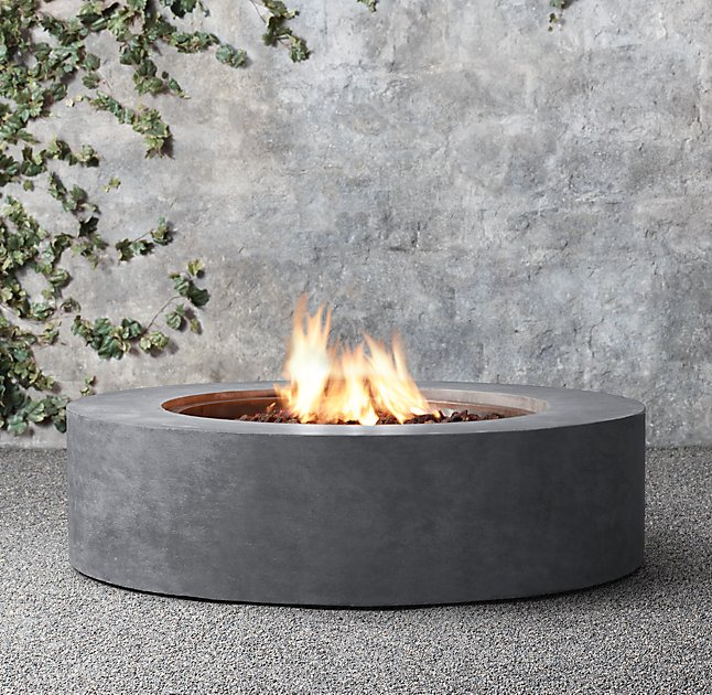 On Sale 8 liter round ethanol burner  outdoor Fireplace