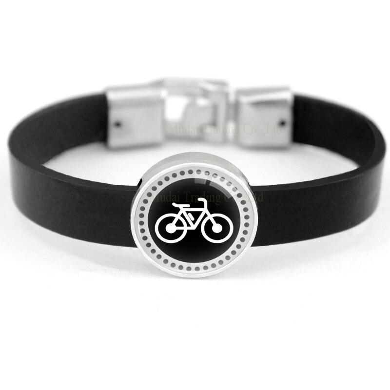 Pulseras con bicicleta, fútbol, béisbol, baloncesto, fútbol, voleibol, pulseras de cuero, joyería Unisex para hombres y mujeres