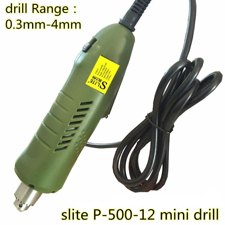 Slite 24-36 v mini elétrico broca micro broca p-500-12 processamento de jóias/madeira/soft meta de ferro elétrico mão dril