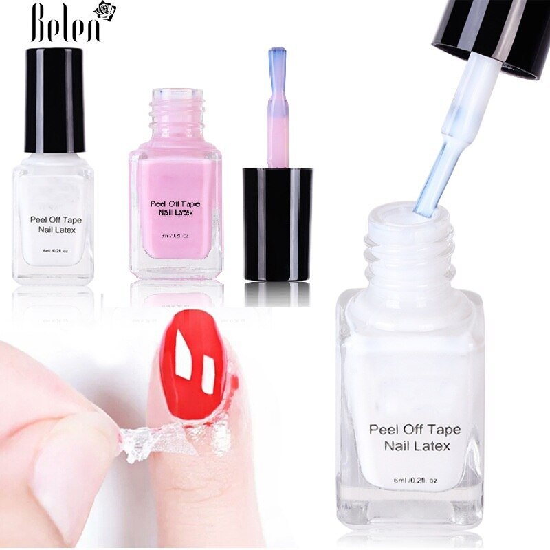 Peel Off Liquid Tape From Nail Polish Protection Finger Skin Cream White Latex Protected Glue Easy Clean Tape Cream Nail Polish
