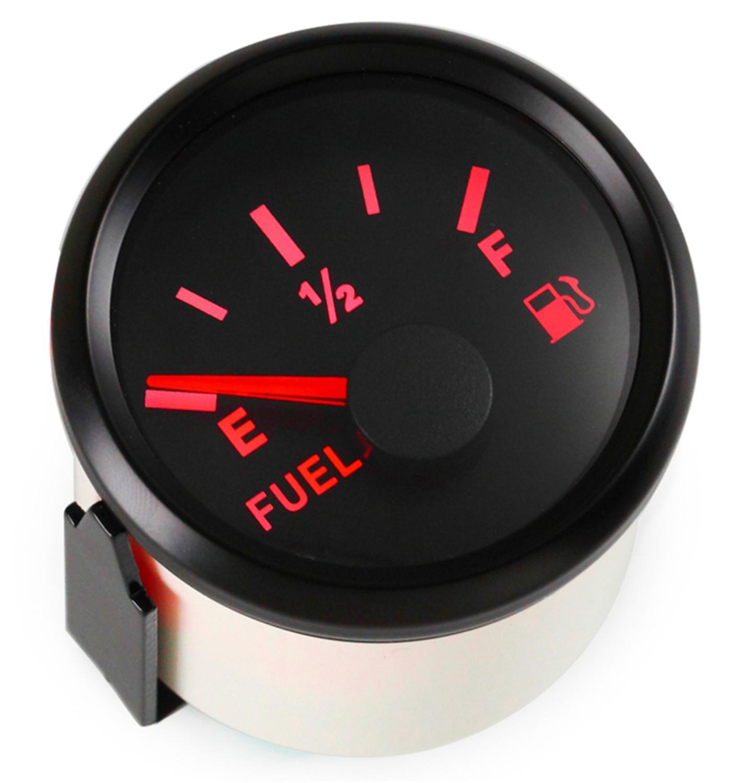 1pc 52mm wskaźniki poziomu paliwa samochodowego 9-32V czarne mierniki poziomu paliwa 0-190ohm 240-33ohm dla modyfikacji samochodów statki