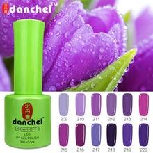 Danchel Nails Art Gel Nail Polish 9ML Vernis Semi Permanent Primer Manicure Gel Varnish Soak Off UV Colors Green Bottle 209-220