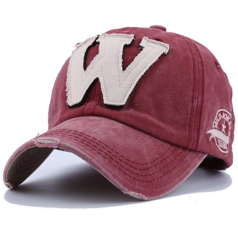 Gorras de béisbol pegatina de tela con letras a la moda gorras de algodón lavadas snapback de Hip Hop