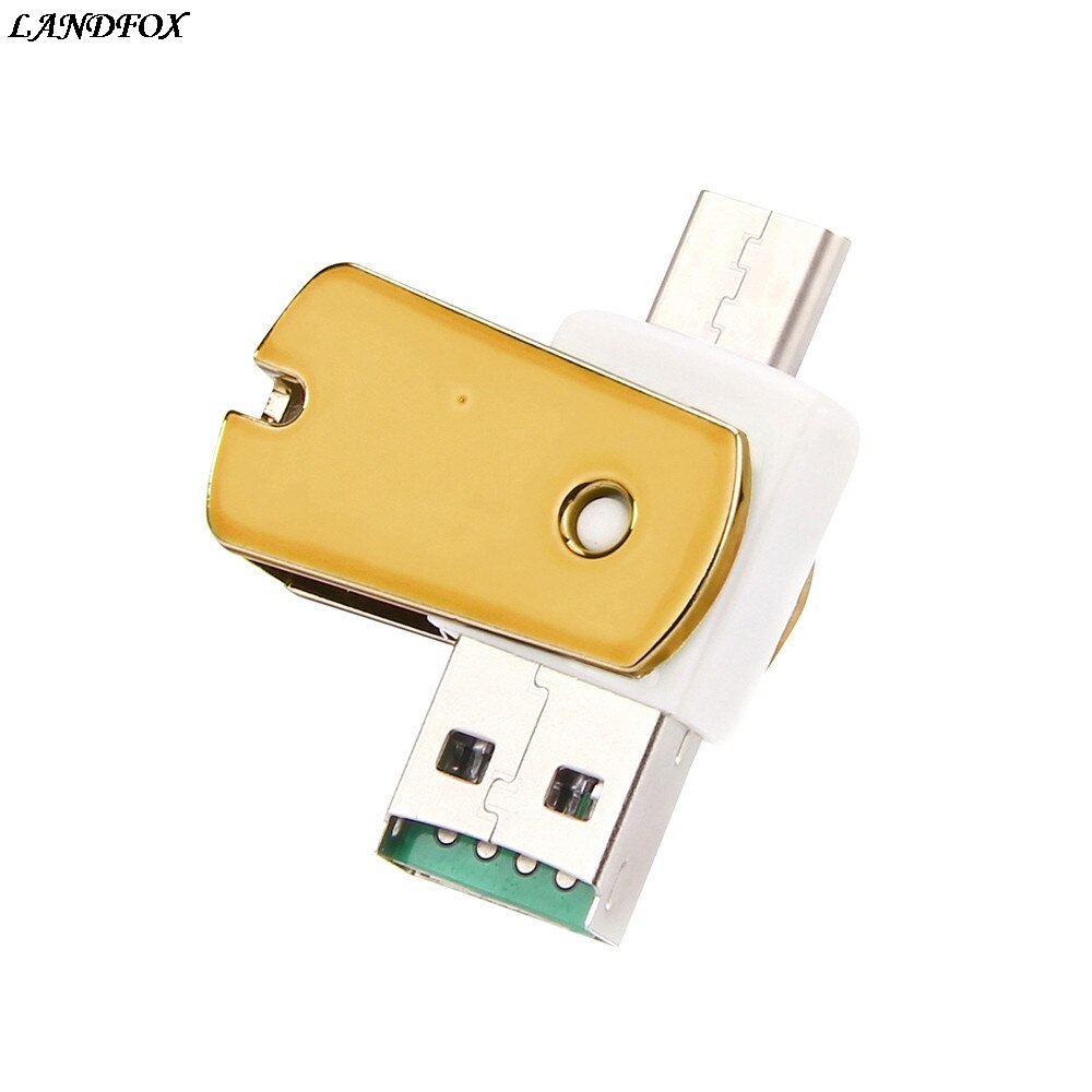 LANDFOX OTG Type C к USB 3,1 Micro SD TF кардридер адаптер для Android телефона для Windows 98/NT/ME/2000/XP/7/8.1/10 Прямая поставка