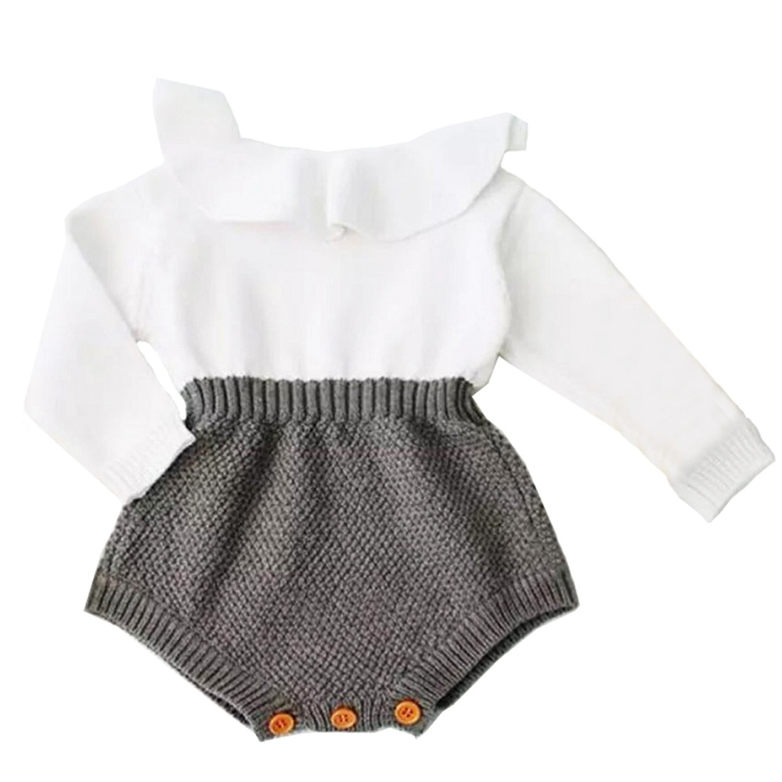 Newborn Baby Girl Clothing Rompers Wool Knitting Tops Long Sleeve Romper Warm Outfits Clothes Baby G