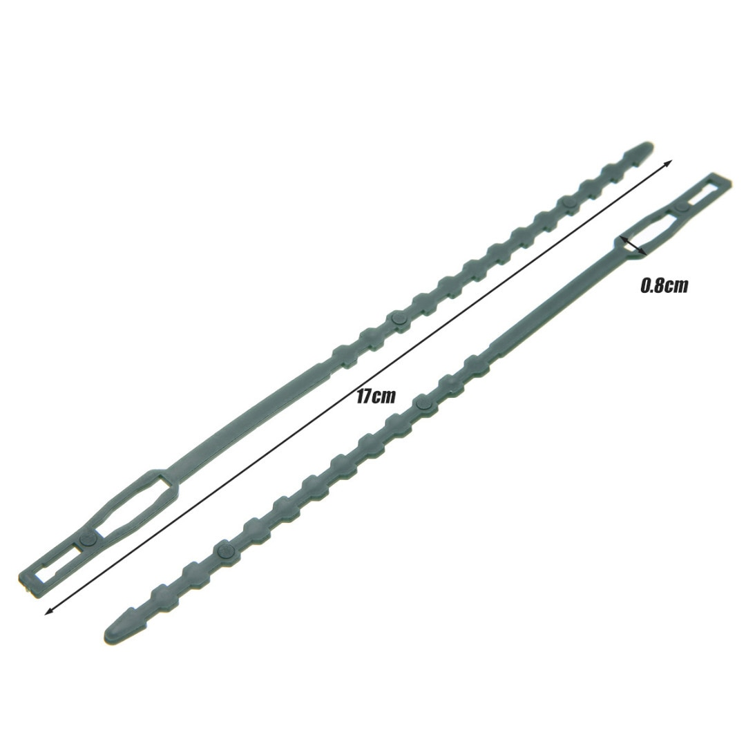 Регулируемые пластиковые кабельные стяжки для растений, 50 шт., многоразовые самоблокирующиеся кабельные стяжки для растений, садовая опора...