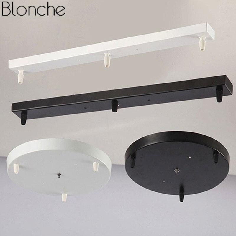 DIY основание потолочной лампы балдахин пластина Винтаж 3 отверстия люстры осветительная арматура круглые прямоугольные аксессуары для осв...