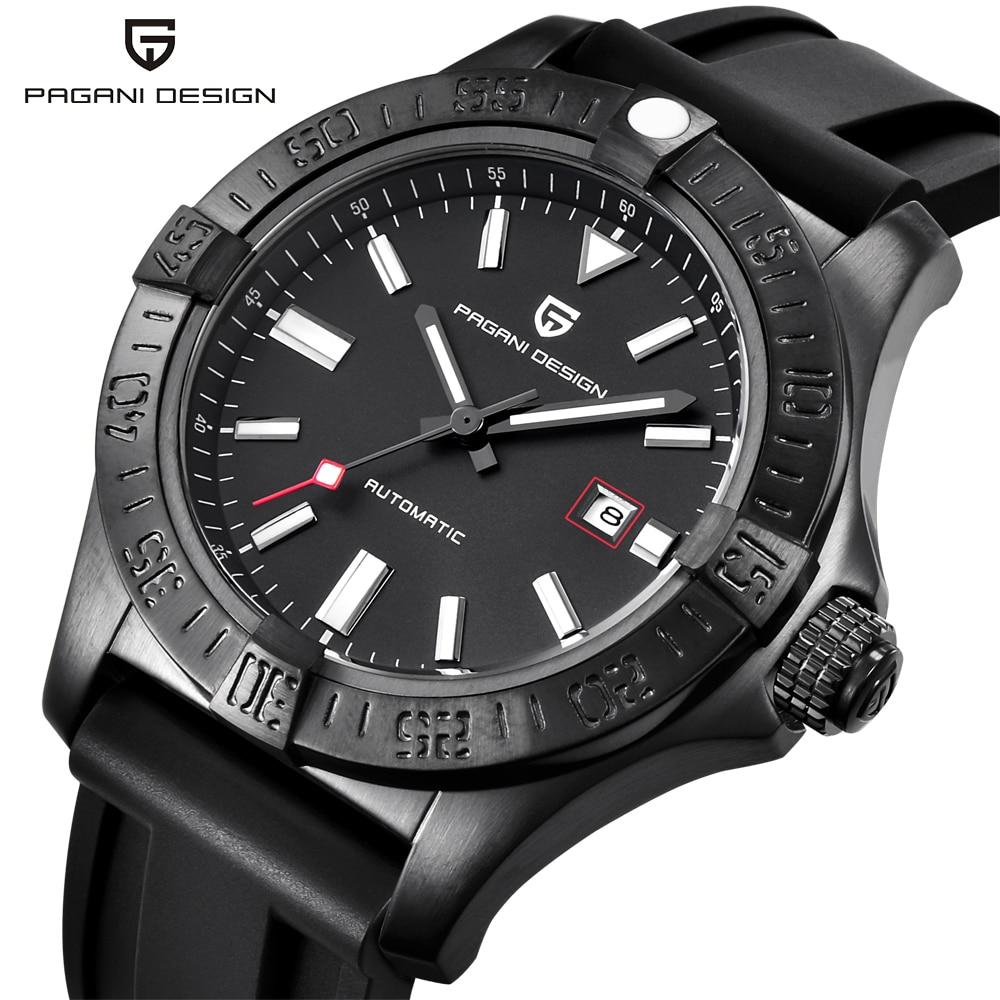 PAGANI DESIGN, relojes mecánicos de goma clásicos de lujo para hombre, reloj automático informal a prueba de agua a la moda, reloj Masculino