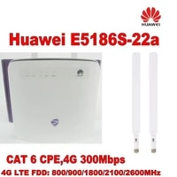 lot of 10pcs huawei e5186 4g cat6 802 11ac lte cpe support up to 64 devices through wifi 2pcs 4g antenna