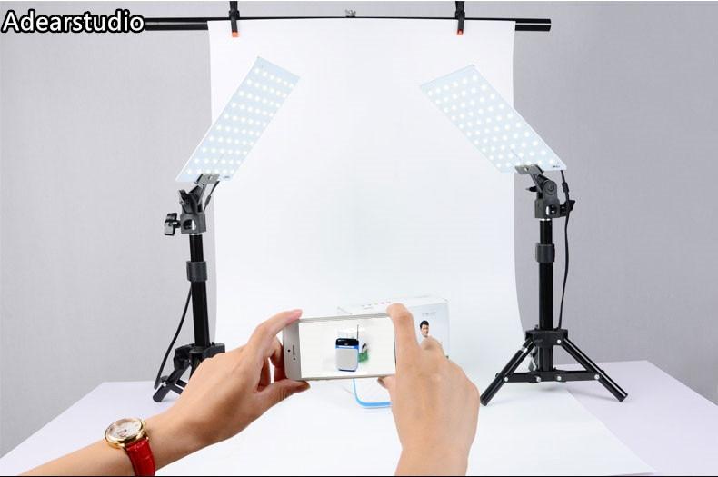 5500K 2X светодиодный светильник, лампы/мини-стол для фотосъемки, набор бумаги, фотогарнитура для натюрморта, съемка продукта CD50