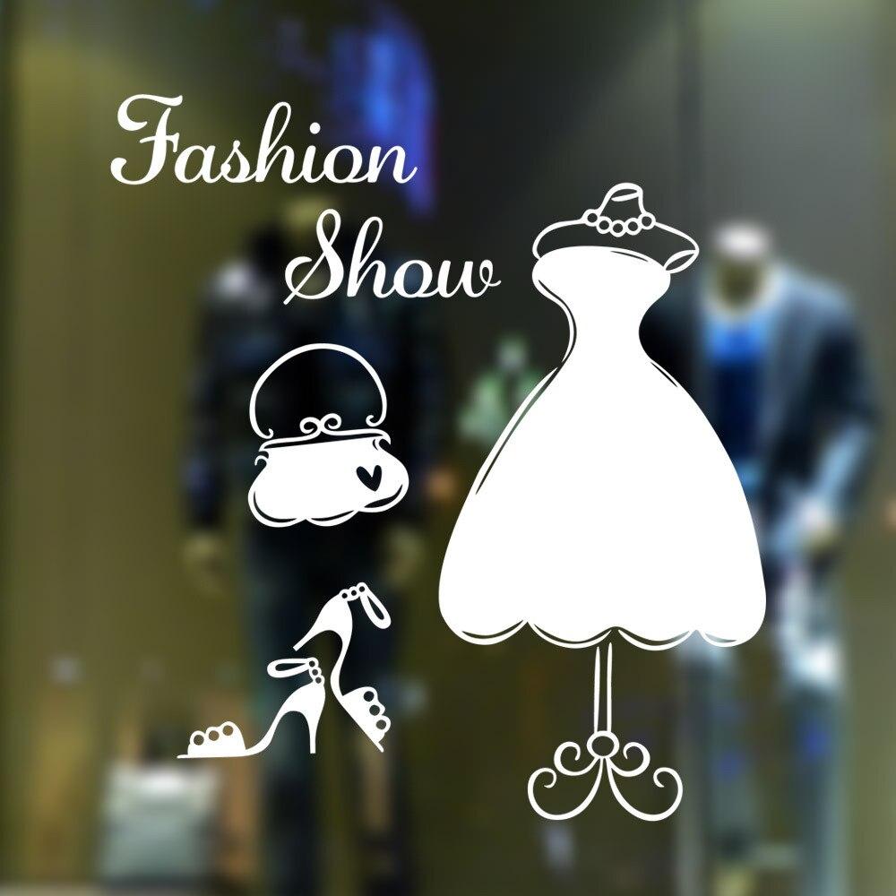 9277 armario arte De moda tienda etiqueta engomada De la ventana De...