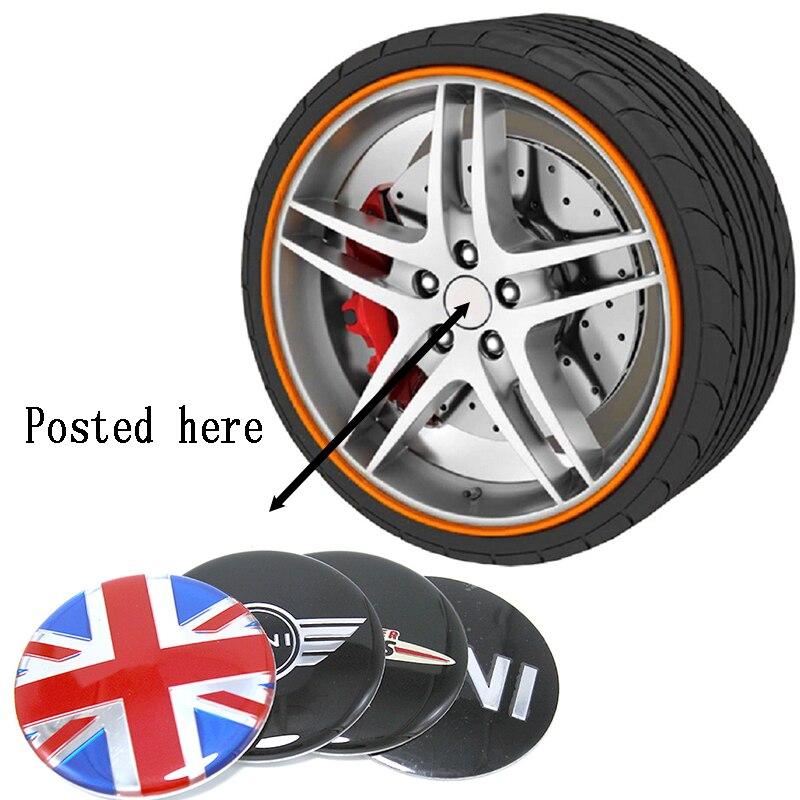 4 шт. 56  50 мм эмблема для автомобильного логотипа, колпачки для ступицы колеса, крышки для BMW Mini Cooper R56 R50 R53 F56 F55 R60 R57 Countryman