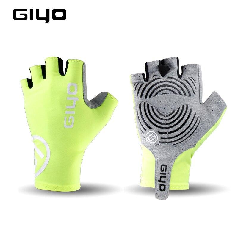GIYO-almohadilla de Gel para Ciclismo, Guantes de medio dedo para Ciclismo de montaña y deportes al aire libre, a prueba de golpes
