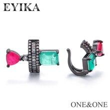 EYIKA mode Fusion oreille bijoux ornement femmes oreille pince faux boucle doreille fusion cristal Micro-incrusté zircon oreille manchette
