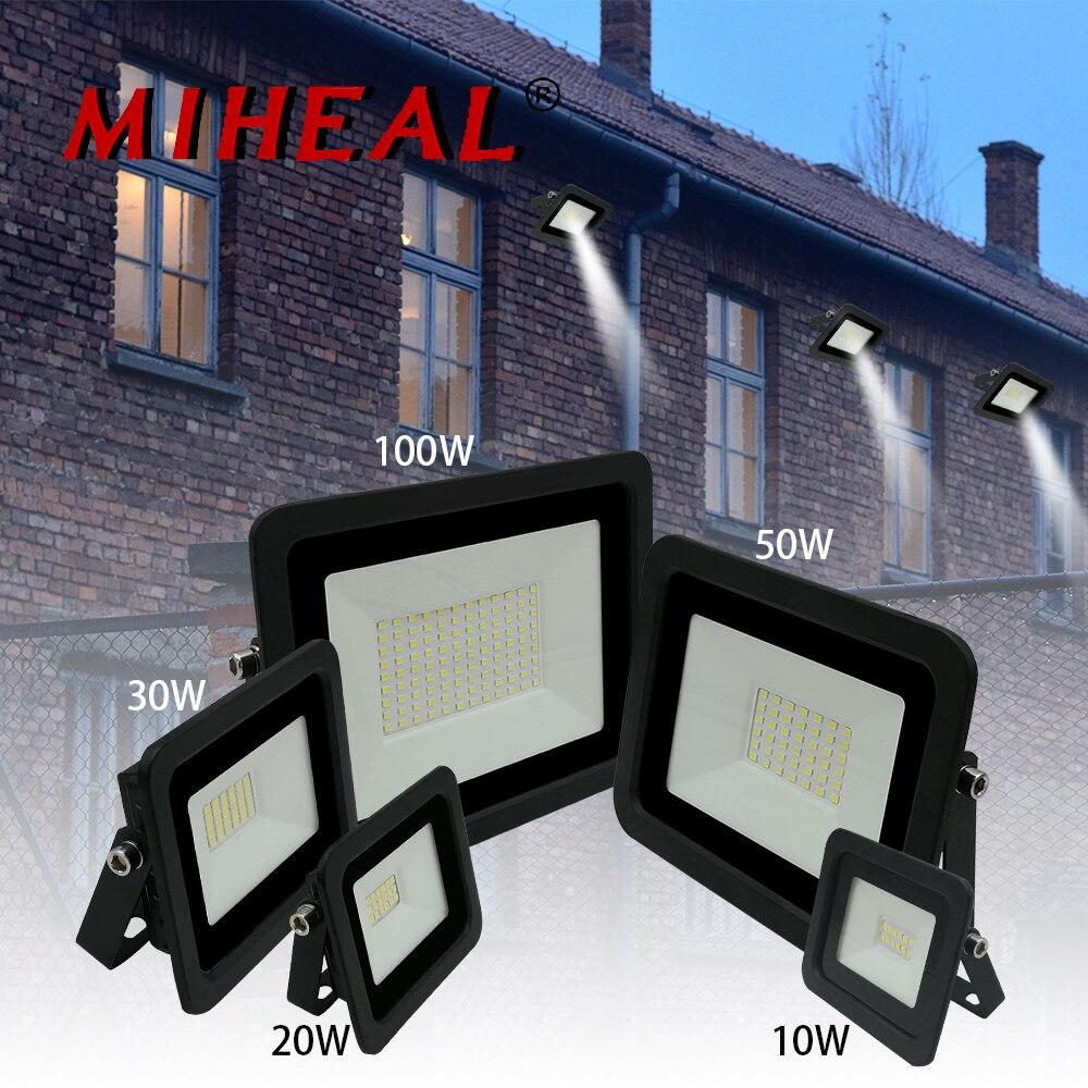 2019 nuevo reflector LED 10W 20W 30W 50W 100W Luz de inundación para exteriores 110V /220V impermeable IP68 lámpara de iluminación profesional