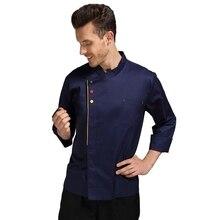 Nouveau chef uniforme gratuit logo personnalisé à manches longues homme cuisinier vêtements 5XL grande taille restaurant uniforme
