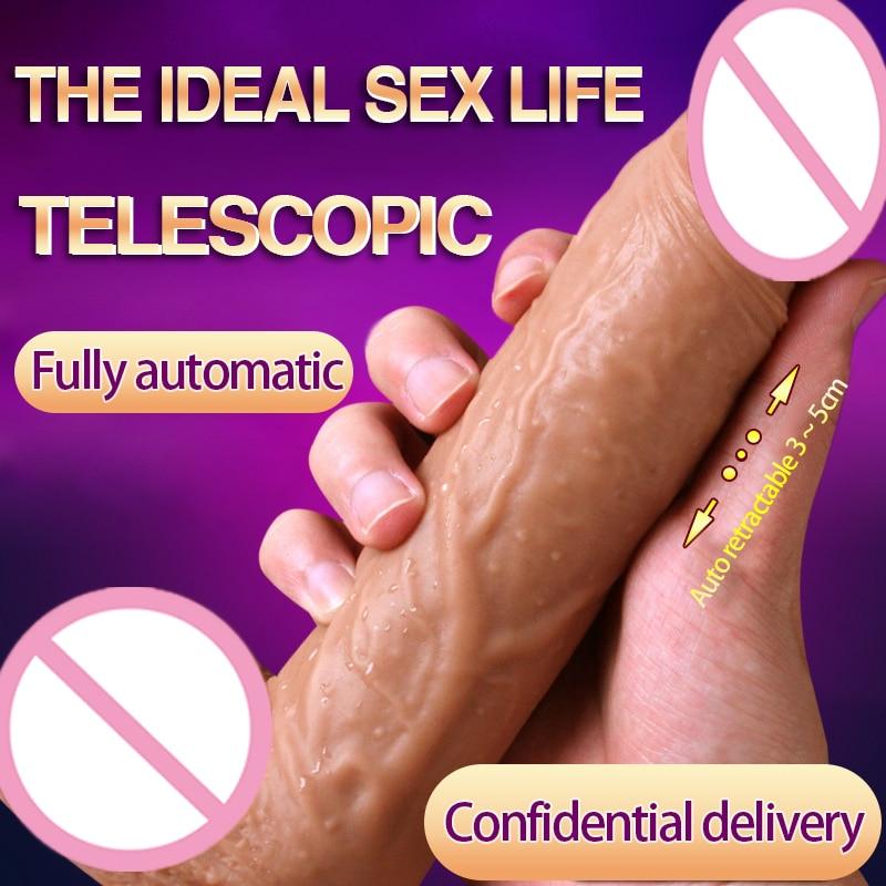 Caliente totalmente automática gran Consolador con vibración realista pene con ventosa taza pene vibrador mujeres pene consolador adultos juguetes sexuales para las mujeres
