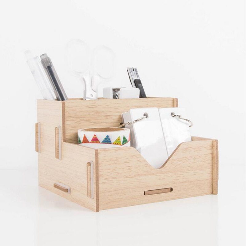 Деревянный держатель для ручек ручной работы настольный органайзер школьные