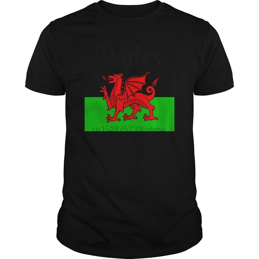Męska koszulka z krótkim rękawem damska koszulka walia flaga walijski smok Baner Cymru Y Ddraig Goch koszulka fajna