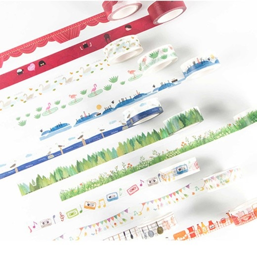 Vida feliz washi fita diy decorativo scrapbooking etiqueta planejador mascaramento fita adesiva etiqueta de papelaria