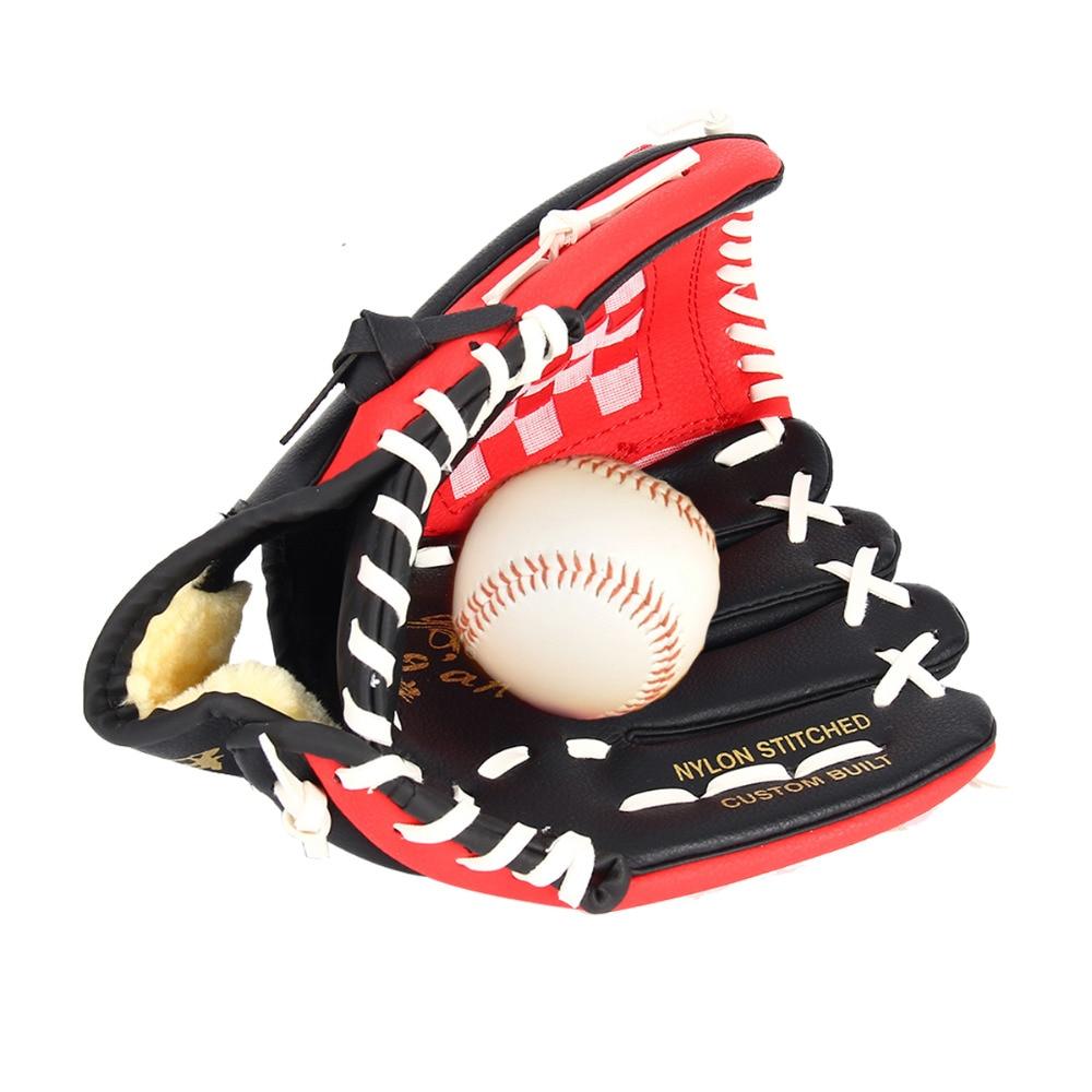 "PVC leather Brown Baseball Glove 10.5""/11.5""/12.5"" Softball Outdoor Team Sports Left Hand Baseball Practice Equipment"