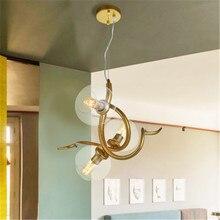 1/2/3 cabezas nórdicos burbuja cristal araña arte cuernos, cuernos ramas diseño de la sala de tienda de ropa restaurante suspensión lámpara