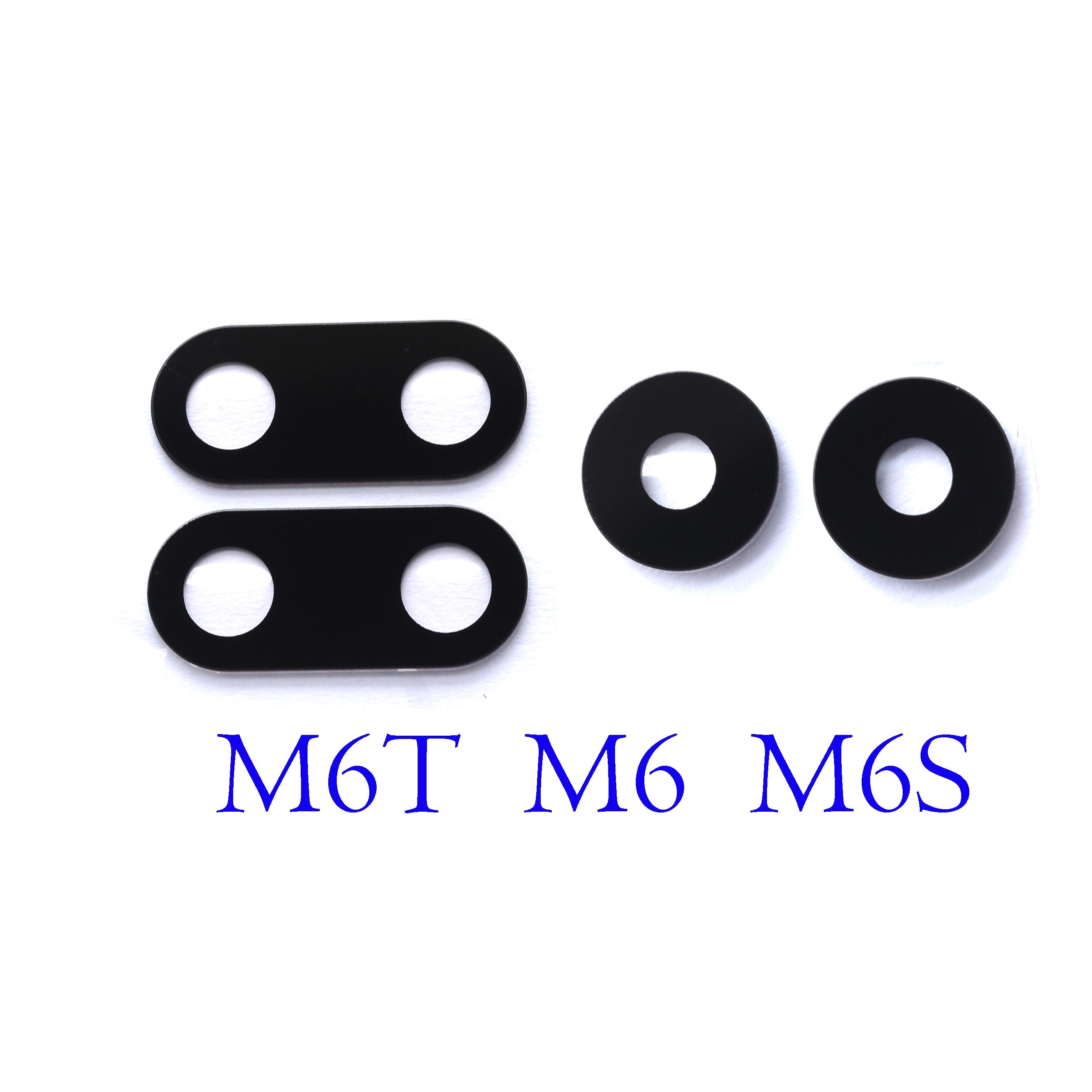 Traseira traseira lente da câmera para meizu m6t m6s m6 com adesivo cola