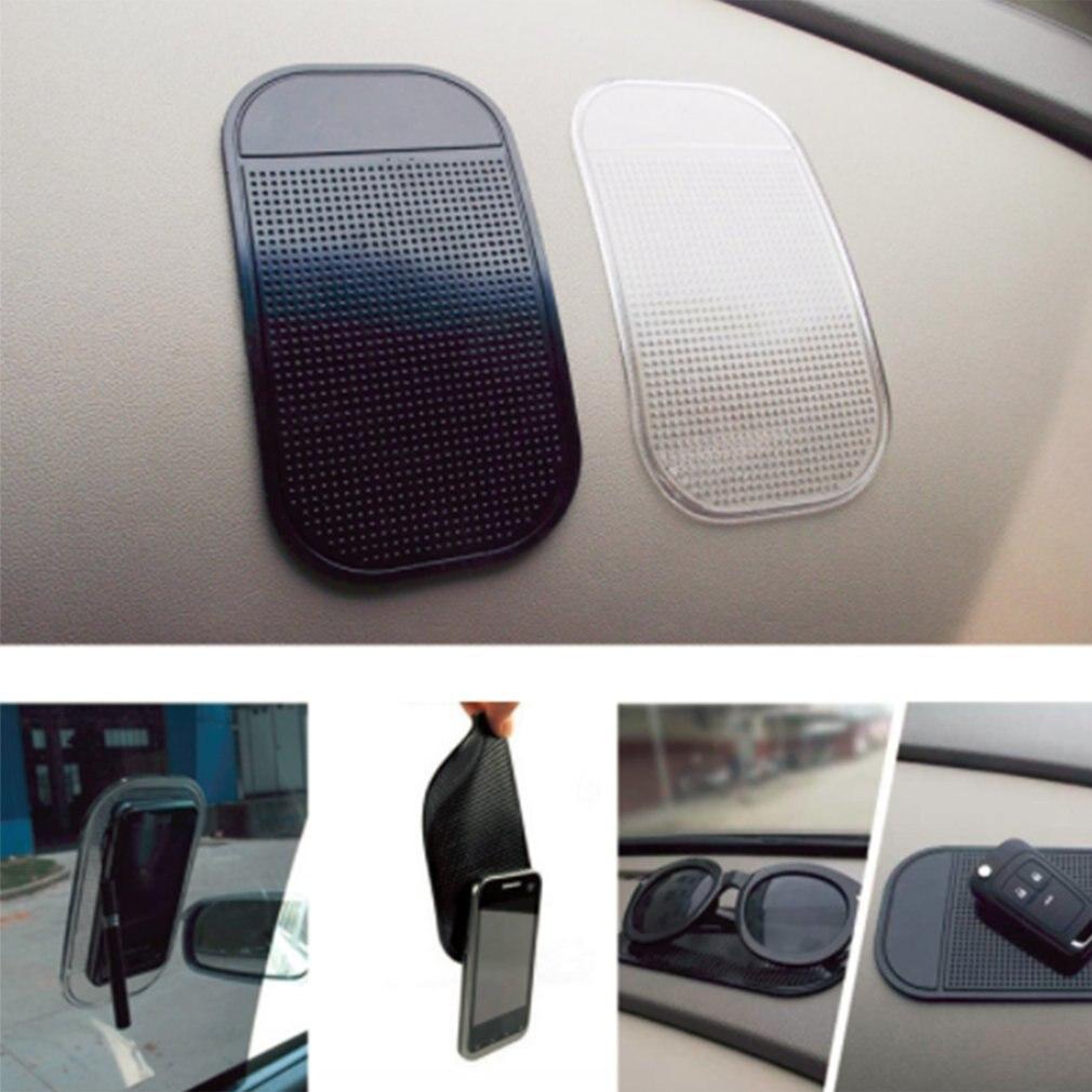 1 unidad, almohadilla adhesiva para salpicadero de coche, Gel de sílice, fuerte almohadilla de succión, soporte de alfombrilla antideslizante para accesorios de coche y teléfono móvil