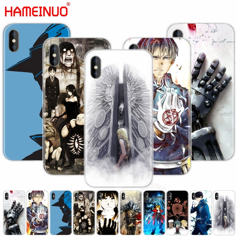HAMEINUO FullMetal Alchemist Anime caso Tampa do telefone celular para o iphone X 8 7 6 4 4S 5 5S SE 5c 6 s plus
