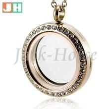 Haute qualité 20mm 25mm 30mm charnière ouvert cristal 316L acier inoxydable rose or aimant bijoux