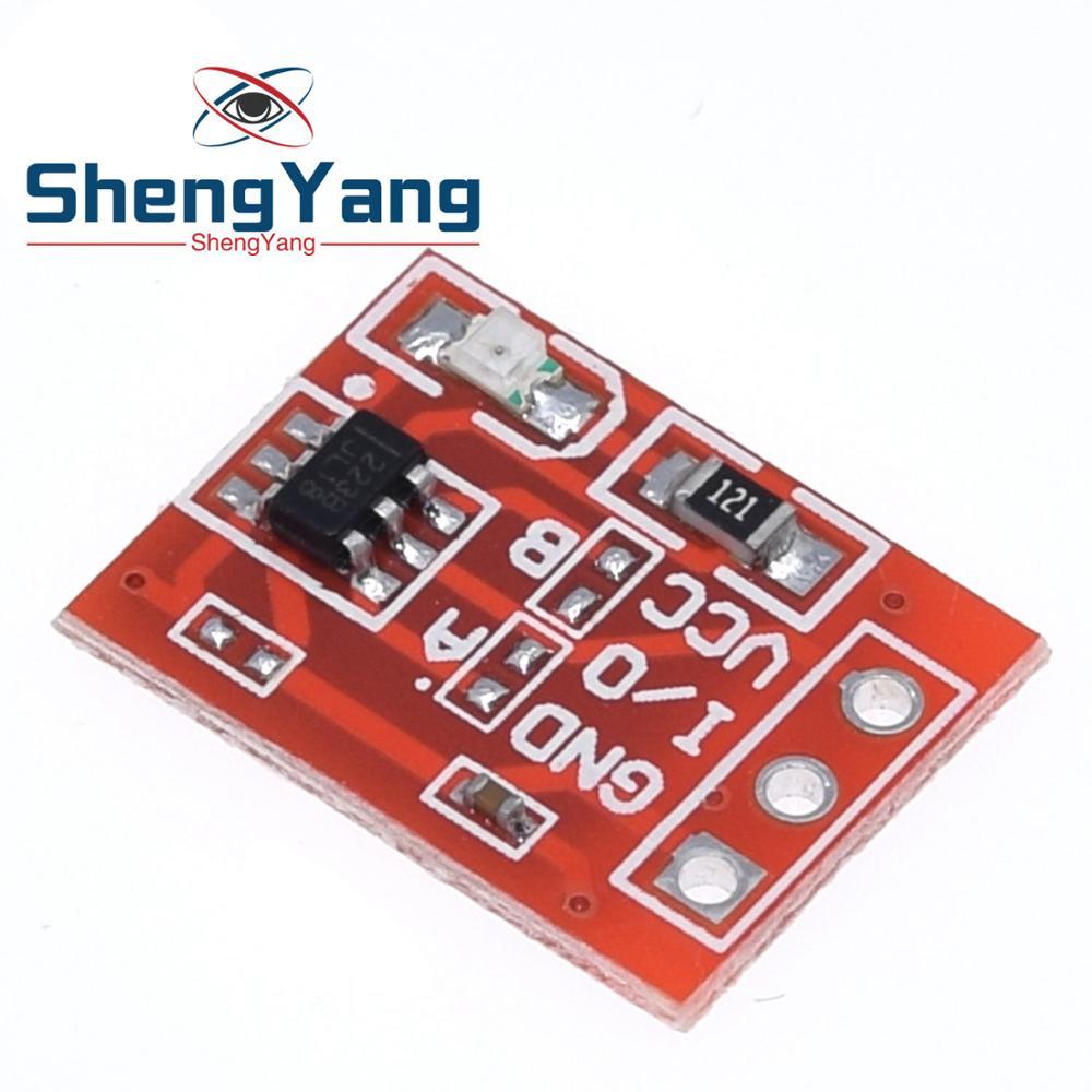 10 Uds Shenyang nuevo TTP223 Módulo de botón táctil Tipo de condensador de canal único auto bloqueo Touch sensor de interruptor de
