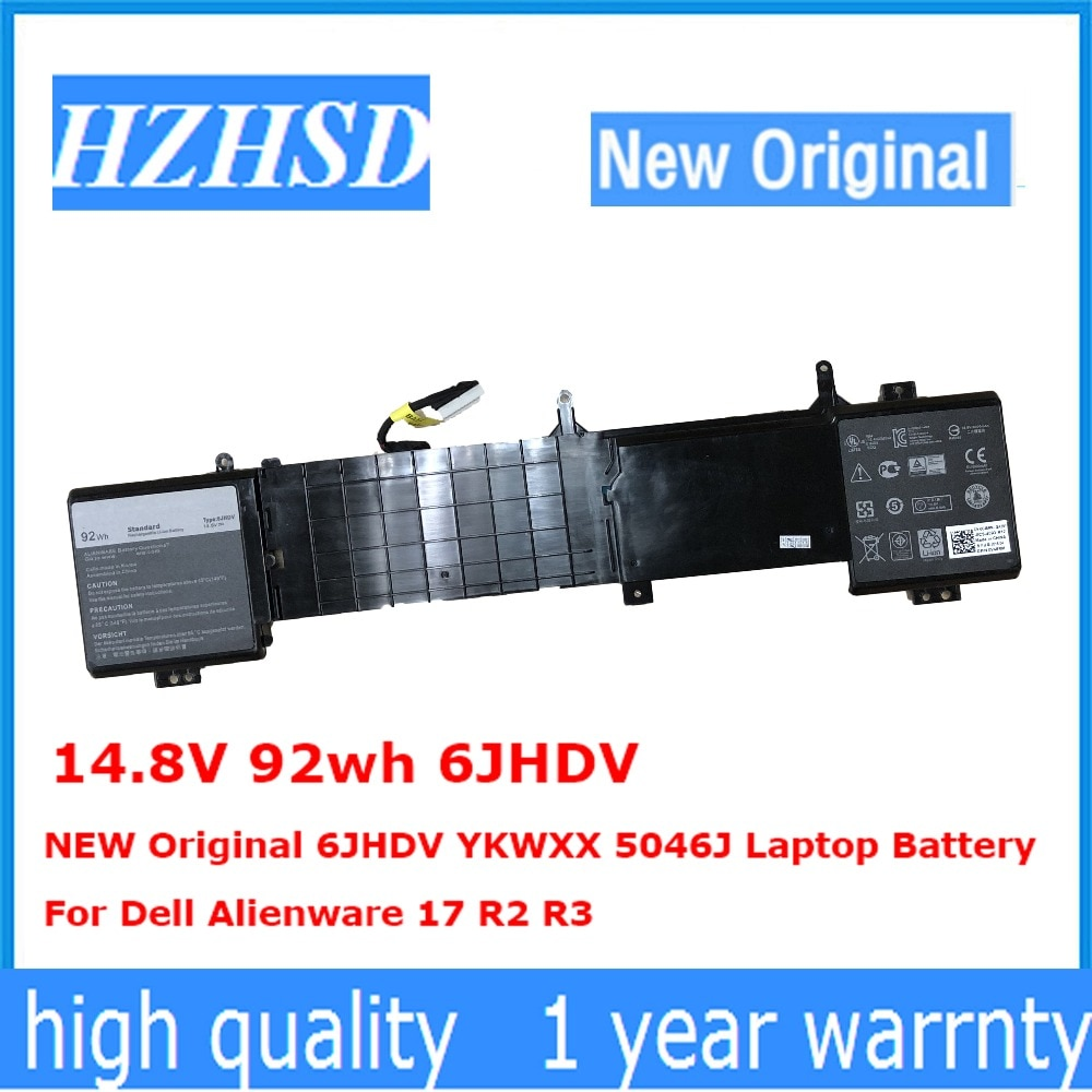 14,8 в 92wh 6JHDV новый оригинальный 6JHDV YKWXX 5046J Аккумулятор для ноутбука Dell Alienware 17 R2 R3