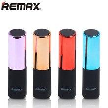 REMAX rouge à lèvres batterie externe 2400mAh chargeur Portable Powerbank chargeur externe de batterie pour iphone 5s 6 7s samsung avec câble gratuit