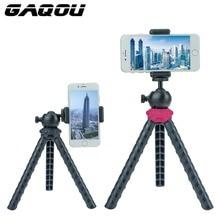 GAQOU Mini trípode de viaje para iPhone Flexible portátil Gorillapod teléfono móvil trípode para Gopro Hero DSLR cámara Digital Statief