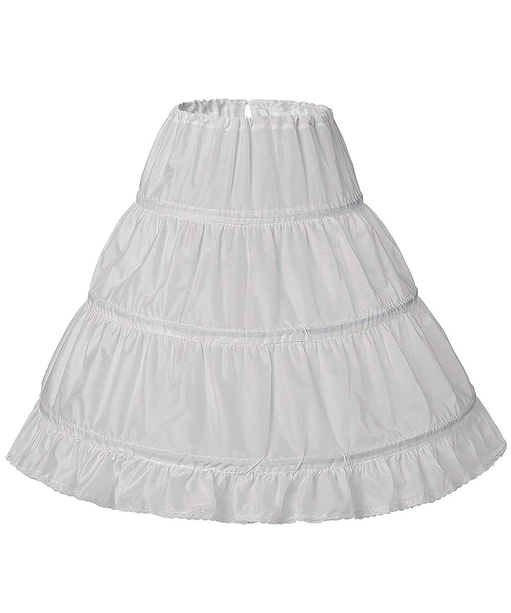 New white petticoat for girls jupon crinoline Cancan slip mariage 3 hoops wedding accessories underskirt petticoat kids