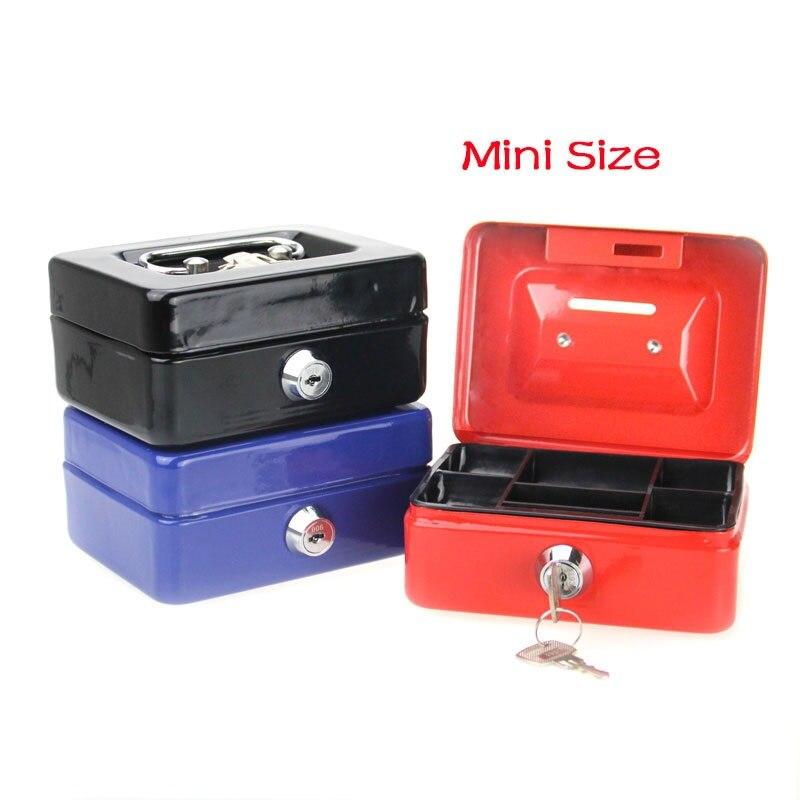 Mini caja de dinero pequeña, cerradura de seguridad de acero inoxidable, cerradura de Metal con cerradura, ajuste pequeño para la decoración de la casa 4,9*3,7*2,2 pulgadas