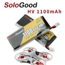 5PCS SoloGood Lipo Batterien 1S 3,8 V 1100mAh 80C Akku mit PH2.0 Stecker Stecker für Indoor racing Drone Spielzeug