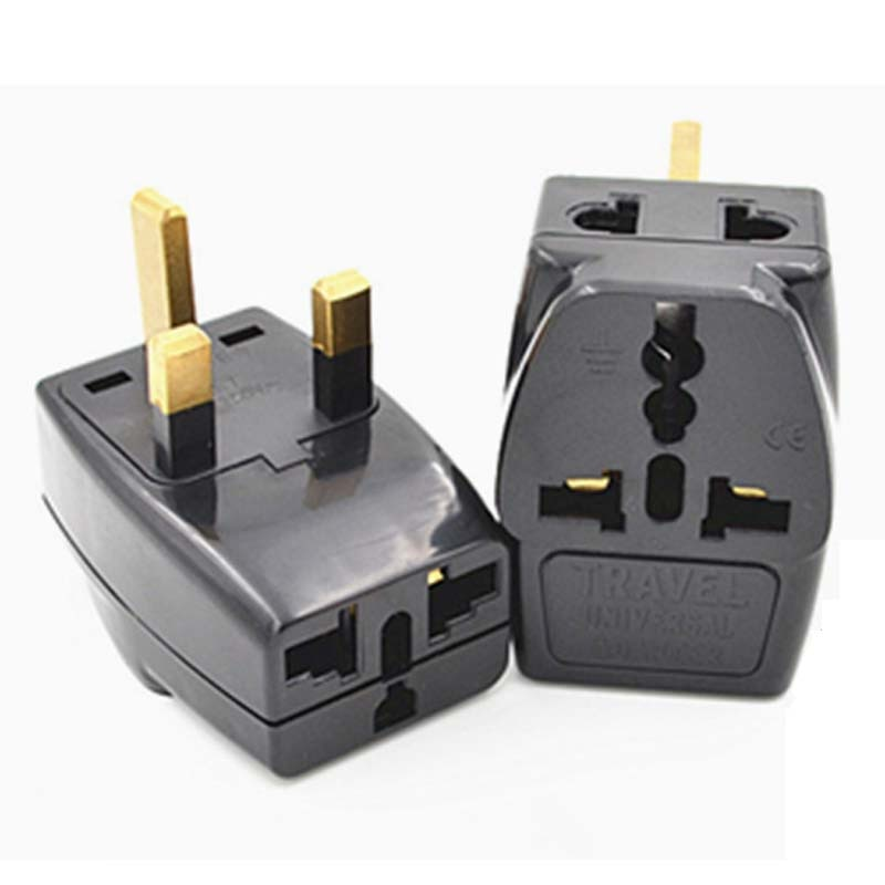 10 pcs para 2 Splitter Universal REINO UNIDO/EUA/AU 3 Pinos 2 Pinos do Soquete para o REINO UNIDO Irlanda 3pin Singapore 3 Pinos Travel Plug Power Adapter