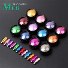 Nail Art Glitter Mirror Powder Sparkly Chrome Glitter Rub Pigment Powder For Nail Design Manicure Pe