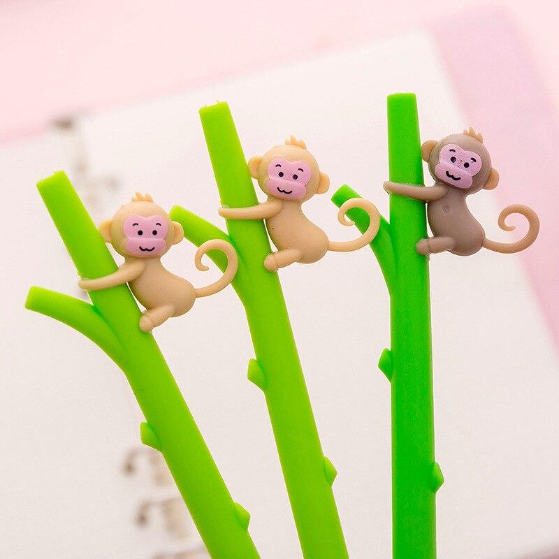 Caneta de fonte de plástico para escalada, caneta neutra de desenhos animados para árvore, material de papelaria