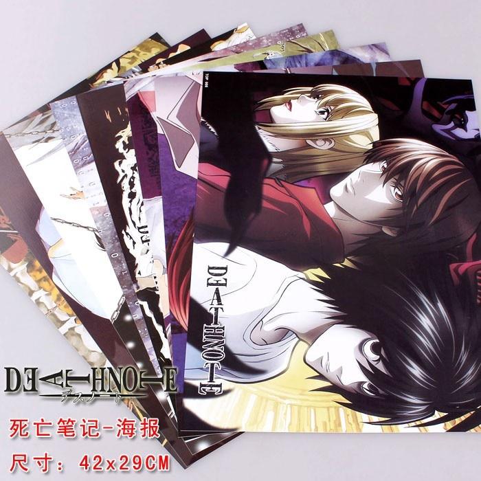 40 Uds Anime carteles muerte Nota 5 conjuntos de cifras L Lawlie yagami Light cartel 42x29cm pared envío gratis