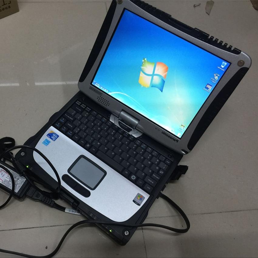 Todos os dados para o software v10.53 do reparo do caminhão e do carro e mitchell ondemand 2in1 com tela táctil do portátil cf19 com bateria