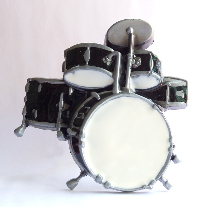 T-DISOM Herren-gürtel Schnalle Mode schwarz und weiß Musik trommeln Westlichen Gürtel Schnalle Geeignet Für 4 cm Breite Gürtel Drop verschiffen