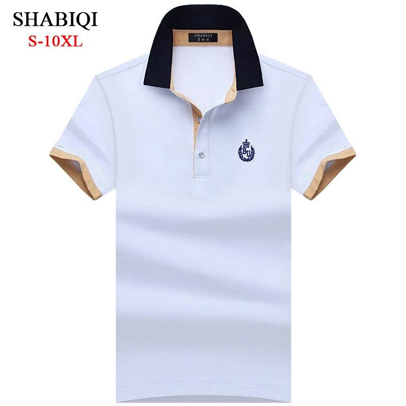 Shabiqi clássico marca camisa masculina camisa polo masculina manga curta polos camisa t designer polo camisa plus size 6xl 7xl 8xl 9xl 10x